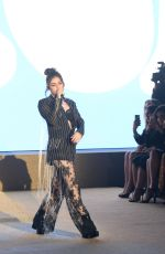 CHARLI XCX Performs at Etam Fashion Show in Paris 09/26/2017