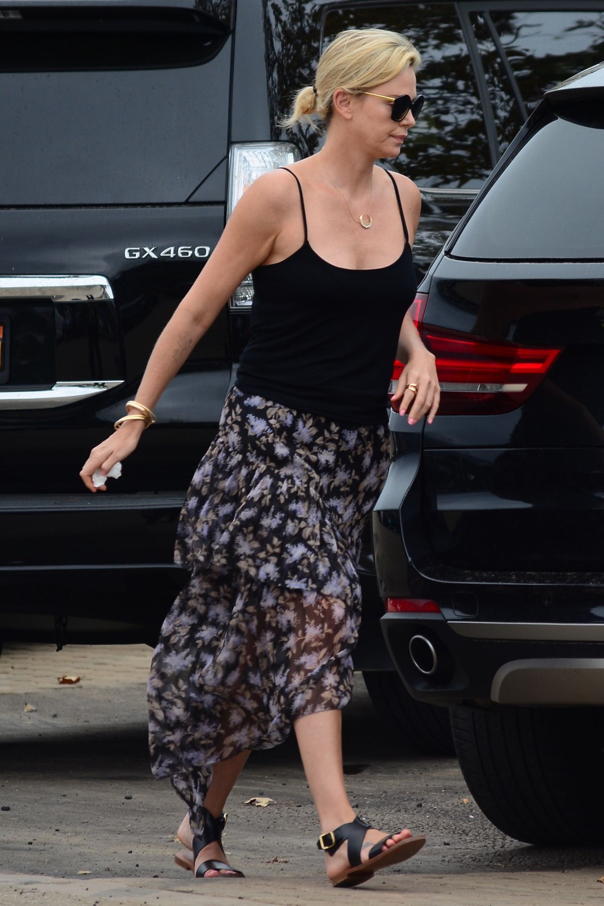 CHARLIZE THERON Leaves Chilli Cook-off Event in Malibu 09/04/2017