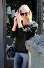 CHARLIZE THERON Leaves Nine Zero One Salon in West Hollywood 09/29/2017