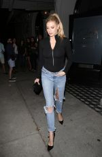 CHARLOTTE MCKINNEY in Ripped Jeans at Craig