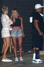 CHARLOTTE MCKINNEY Out for Dinner at Nobu in Malibu 09/04/2017