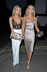 CHLOE CROWHURST and GEORGIA HARRISON Night Out in Essex 09/06/2017