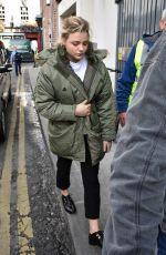 CHLOE MORETZ Arrives on the Set of The Widow in Dublin 09/18/2017