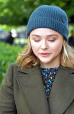 CHLOE MORETZ on the Set of The Widow in Dublin 09/14/2017