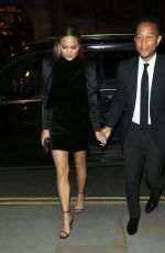 CHRISSY TEIGEN Arrives at Her Hotel in London 09/14/2017