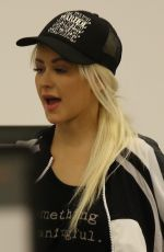 CHRISTINA AGUILERA at LAX AIrport in Los Angeles 09/03/2017