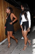 CHRISTINA MILIAN and KARRUECHE TRAN at Nice Guy in West Hollywood 09/05/2017