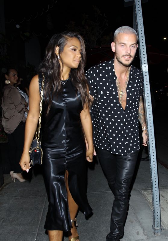 CHRISTINA MILIAN and Matt Pokora Celebrates Christina Birthday at Beauty & Essex in Los Angeles 09/26/2017