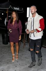 CHRISTINA MILIAN and Matt Pokora Night Out in Los Angeles 09/24/2017