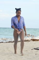 CHRISTINA MILIAN at a Beach in Miami 08/31/2017