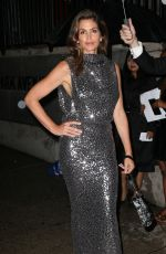 CINDY CRAWFORD Arrves at Tom Ford Fashion Show at New York Fashion Week 09/06/2017