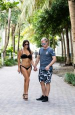 CLAUDIA ROMANI and Christopher Johns at South Beach in Miami 09/03/2017