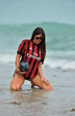 CLAUDIA ROMANI in Bikini Bottom at Miami Beach 09/27/2017