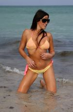 CLAUDIA ROMANI in Bikini on the Beach in Miami 09/20/2017