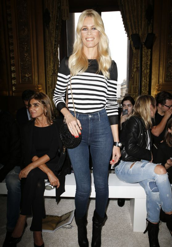 CLAUDIA SCHIFFER at Balmain Spring/Summer 2018 Fashion Show