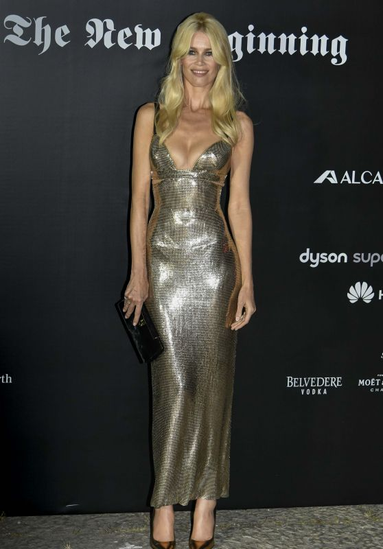 CLAUDIA SCHIFFER at Vogue Italia The New Beginning Party in Milan 09/22/2017