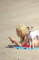 COURTNEY STODDEN in Bikini at a Beach in Los Angeles 08/29/2017