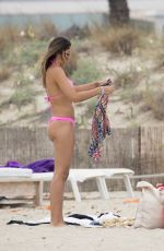 DANIELA OSPINA in Bikini at a Beach in Ibiza 08/28/2017