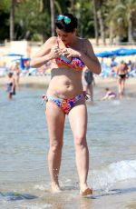 DANIELLA WESTBROOK in Bikini on the Beach in Ibiza 09/18/2017