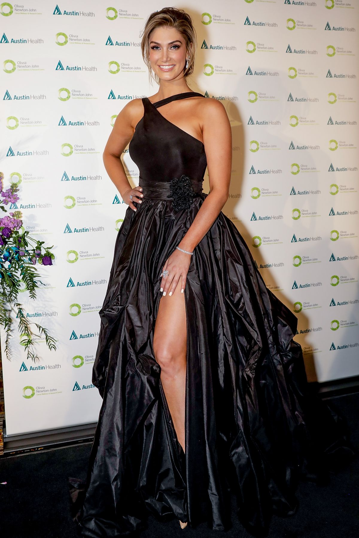 DELTA GOODREM at Olivia Newton-John Gala Red Carpet in Melbourne 09/08/2017