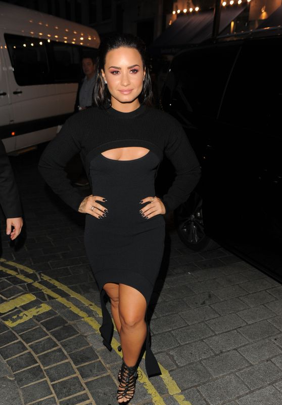 DEMI LOVATO at Album Launch Party in London 09/26/2017