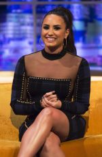 DEMI LOVATO at Jonathan Ross Show in London 09/27/2017
