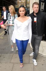 DEMI LOVATO at Kiss FM Studios in London 09/27/2017