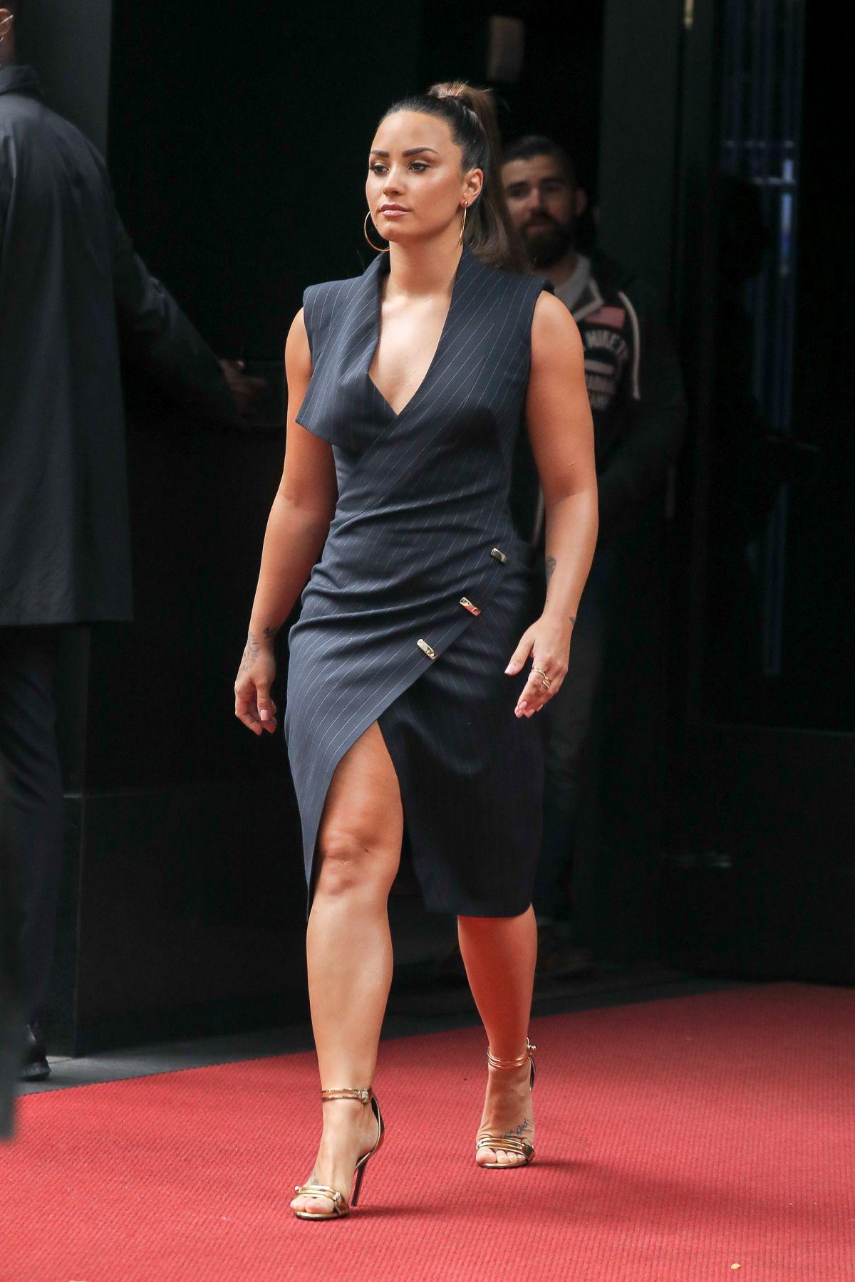 DEMI LOVATO Leaves Her Hotel in New York 09/06/2017