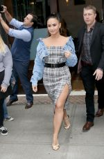 DEMI LOVATO Leaves Her Hotel in New York 09/29/2017