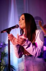 DEMI LOVATO Performs for Spotify Superfans in Los Angeles 09/15/2017