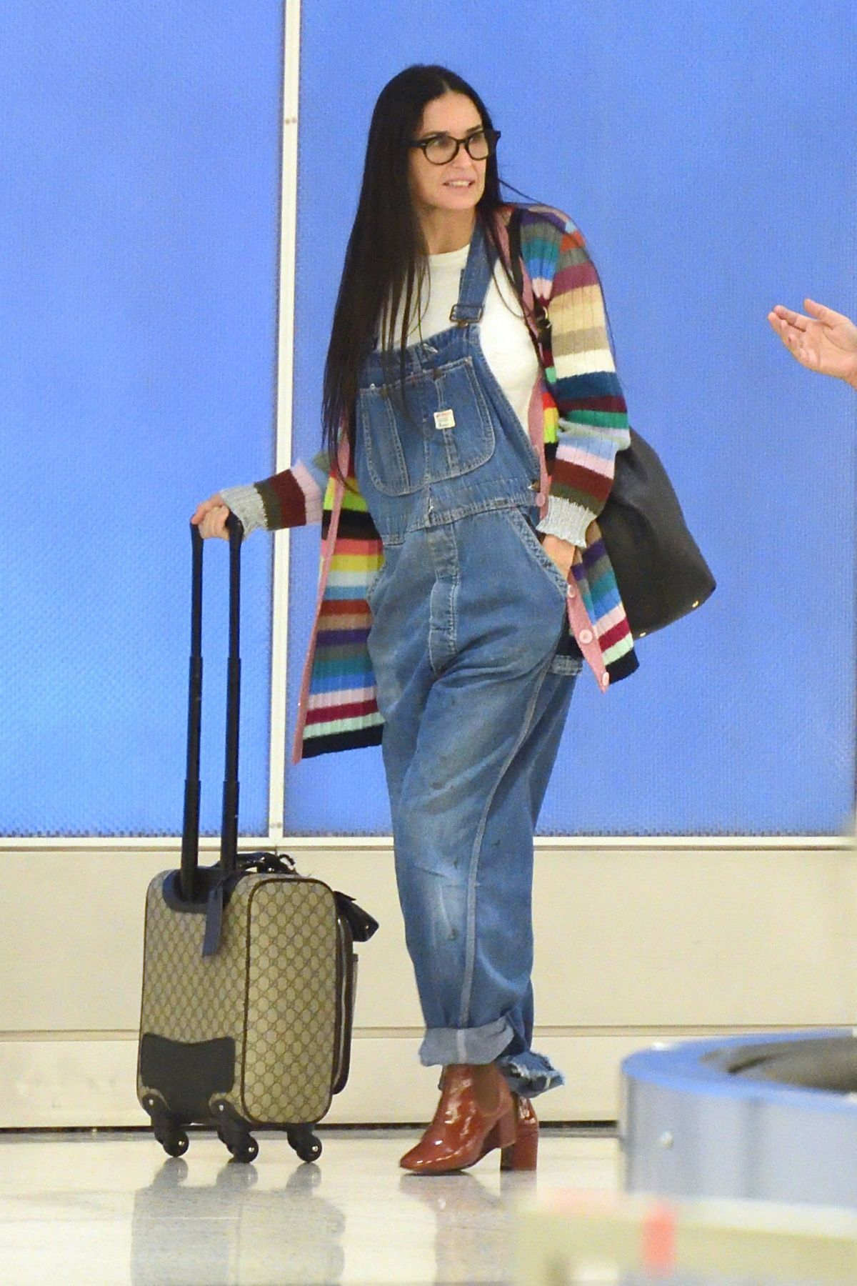 DEMI MOORE at JFK Airport in New York 09/21/2017