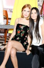 DEMI MOORE, SCOUT and TALLULAH WILLIS at Alice & Olivia Fashion Show at NYFW 09/12/2017