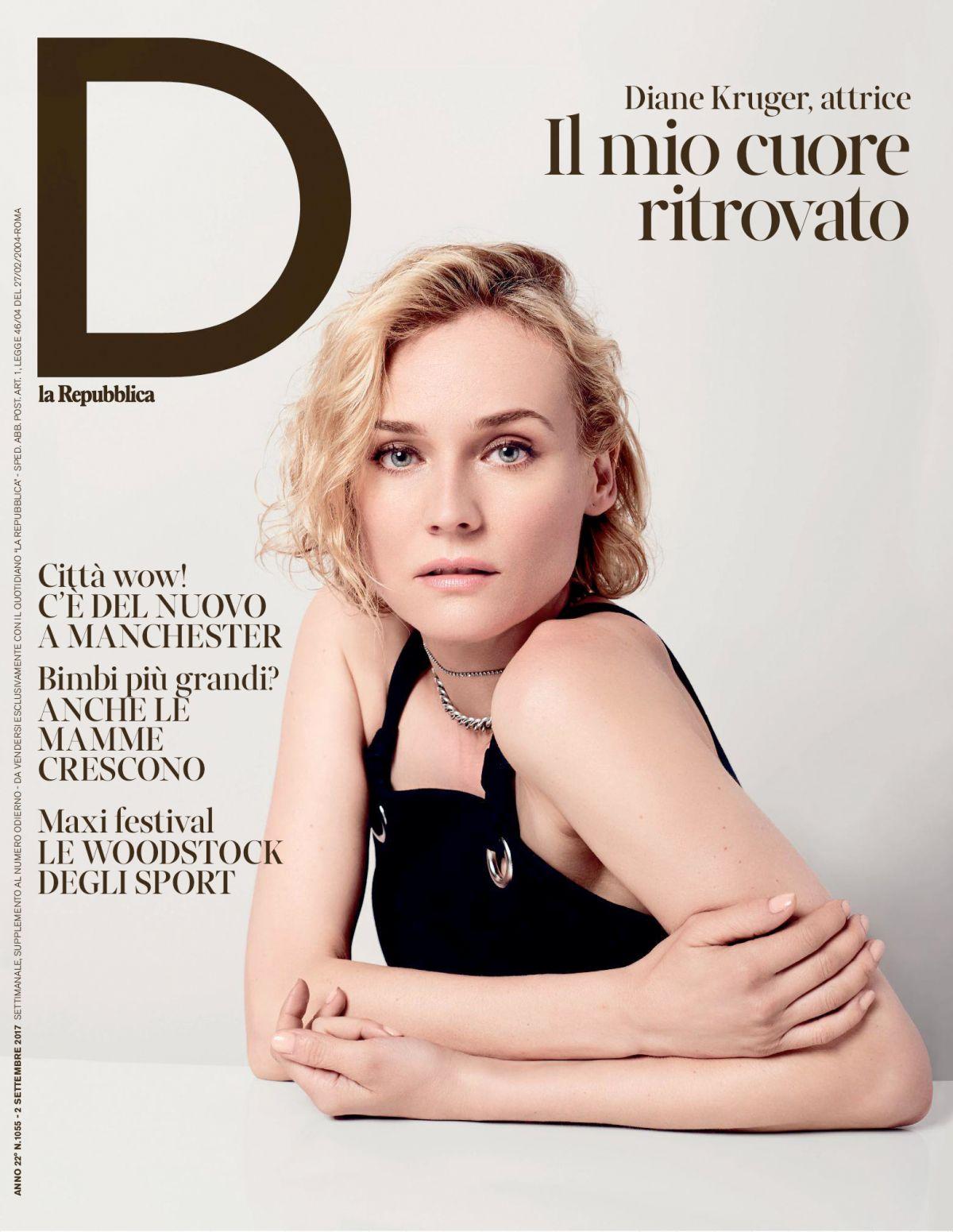 DIANE KRUGER in D La Repubblica Magazne, September 2017
