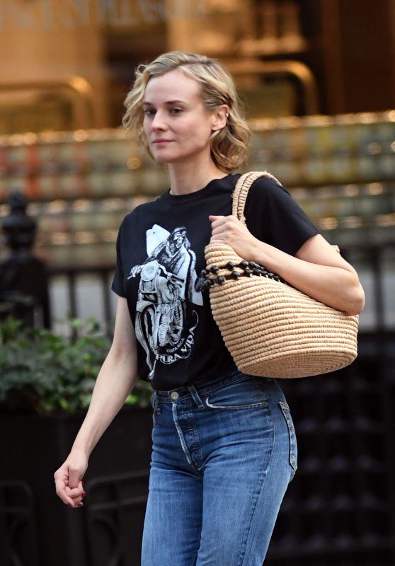 DIANE KRUGER Out for Breakfast in New York 09/26/2017