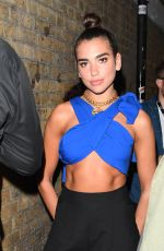 DUA LIPA Leaves Bricklane Yard in London 08/31/2017