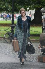 ELIZABETH DEBICKI on the Set of Vita & Virginia in Dublin 09/04/2017