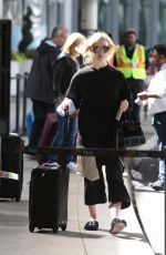 ELLE FANNING Arrives at Toronto Airport 09/08/2017