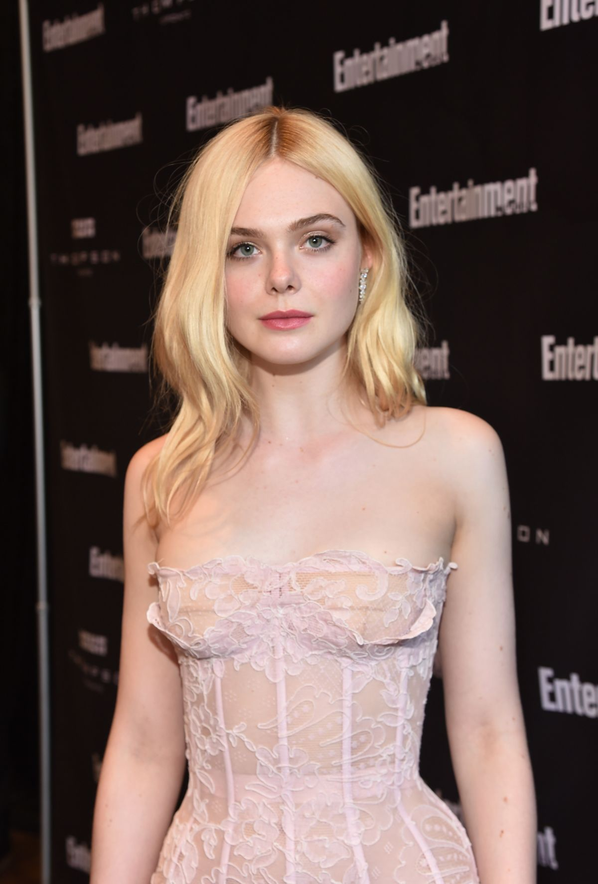 ELLE FANNING at Entertainment Weekly