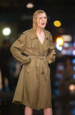 ELLE FANNING Fashes Her Underwear on the Set of Woody Allen Movie in New York 09/27/2017