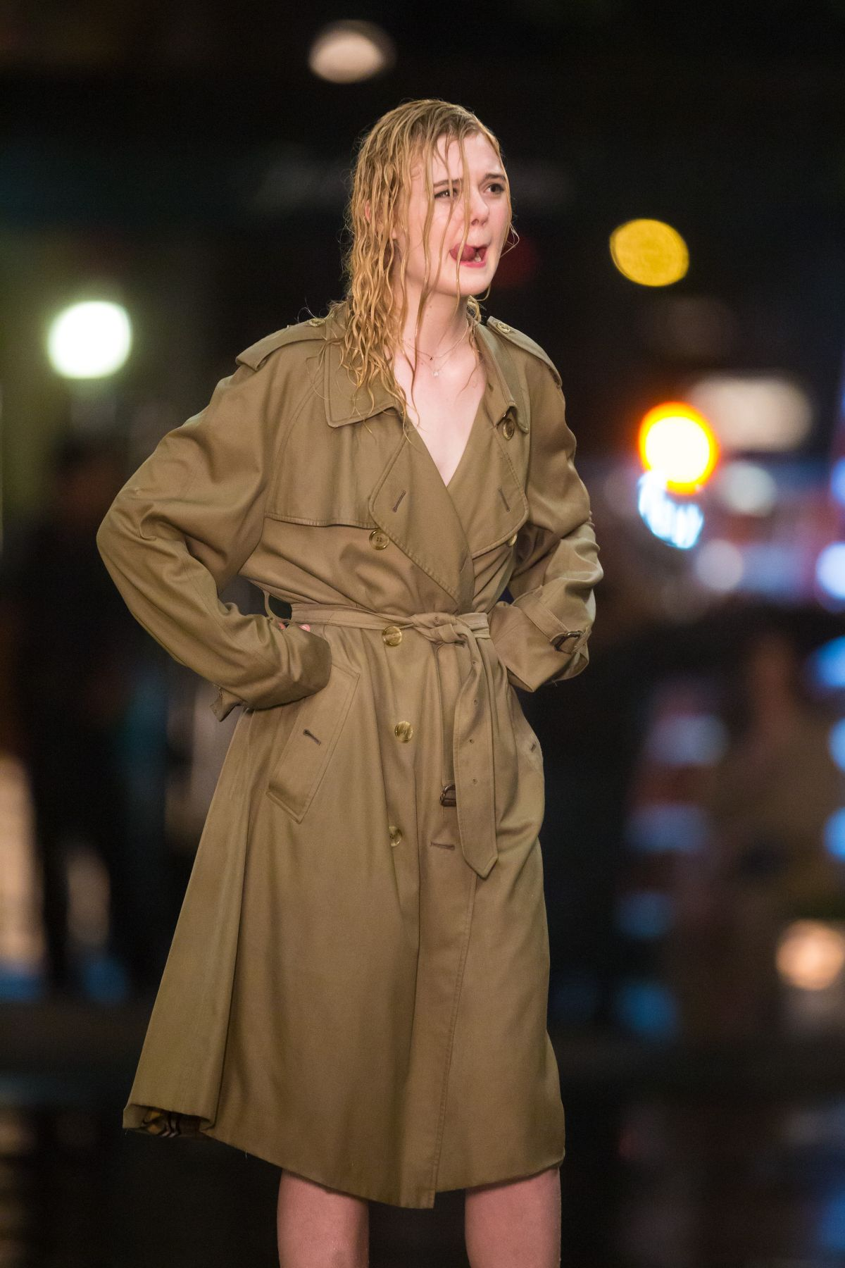 Elle Fanning Fashes Her Underwear On The Set Of Woody