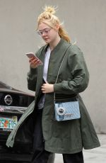 ELLE FANNING Heading to Her Home in New York 09/03/2017