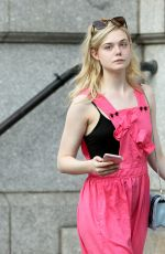 ELLE FANNING Heading to Her Home in New York 09/04/2017