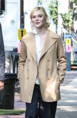 ELLE FANNING on the Set of a Woody Allen Movie in New York 09/11/2017