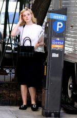 ELLE FANNING on The Set of Untitled Woody Allen Project in New York 09/29/2017
