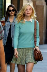 ELLE FANNING on the Set of Woody Allen Movie in New York 09/15/2017