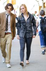 ELLE FANNING on the Set of Woody Allen Project in New York 09/25/2017