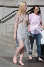 ELLE FANNING Out and About in New York 01/09/2017