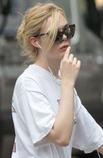 ELLE FANNING Out and About in New York 09/12/2017