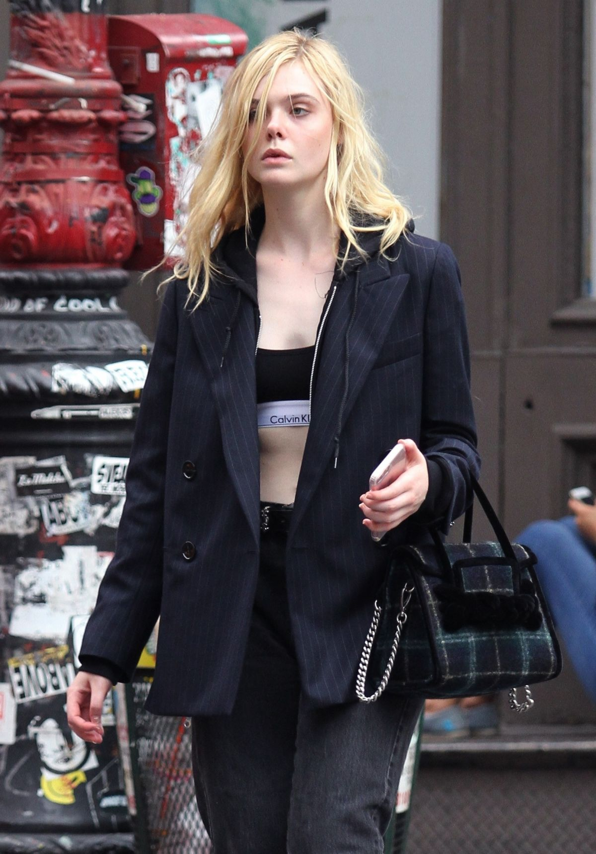 ELLE FANNING Out and About in New York 09/18/2017