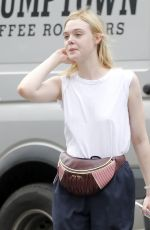 ELLE FANNING Out and About in New York 09/21/2017